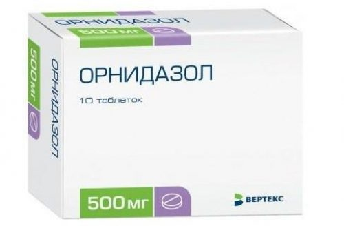 Медикаментозное лечение уреаплазмоза Орнидазол 1