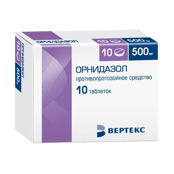 Медикаментозное лечение уреаплазмоза Орнидазол