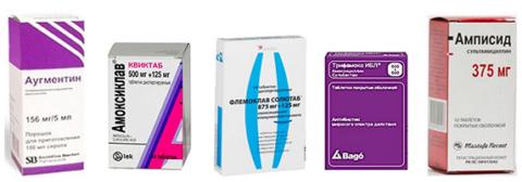 Антибиотики аминопенициллинового ряда