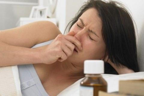Беременная женщина, больная пневмонией