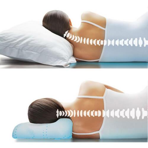 Неудобная подушка - причина головной боли при шейном остеохондрозе