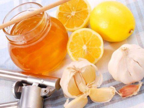 Чеснок, мед и лимон