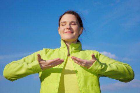 Дыхательная гимнастика способствует улучшению общего самочувствия и поднятию настроения