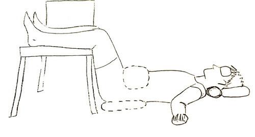 Поза тела при боли в спине и пояснице при радикулите