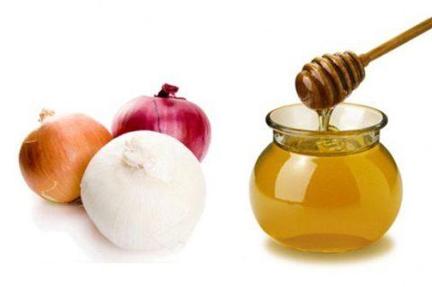 Мед и лук часто используются при лечении простудных заболеваний