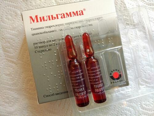 Мильгамма для лечения грудного остеохондроза