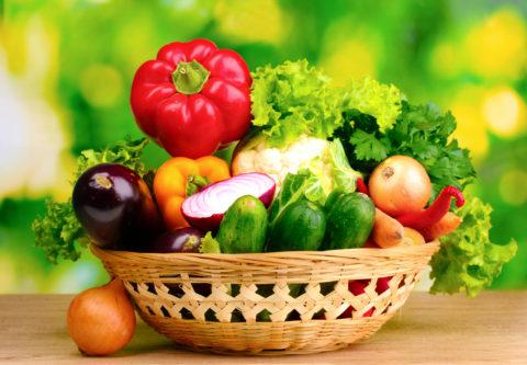 Наполнение рациона овощами.