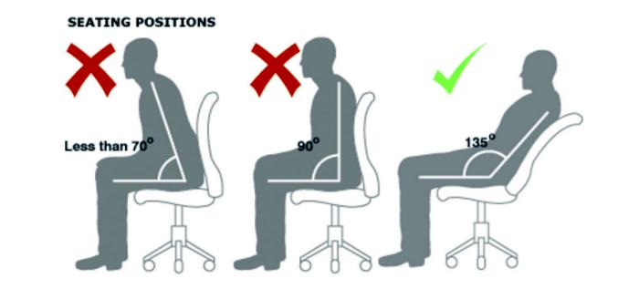 как сидеть чтобы не болела спина
