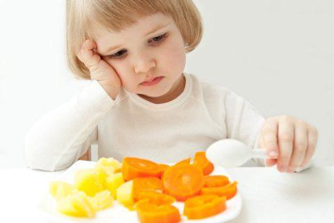 Рацион ребенка должен быть сбалансированным.