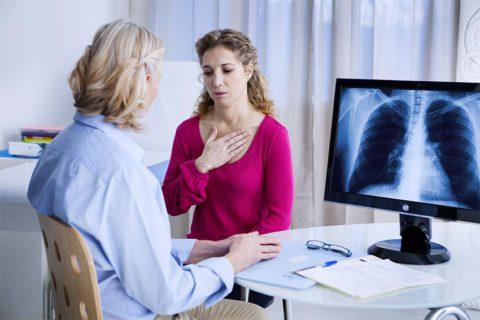 Симптомы, характерные для пневмонии.