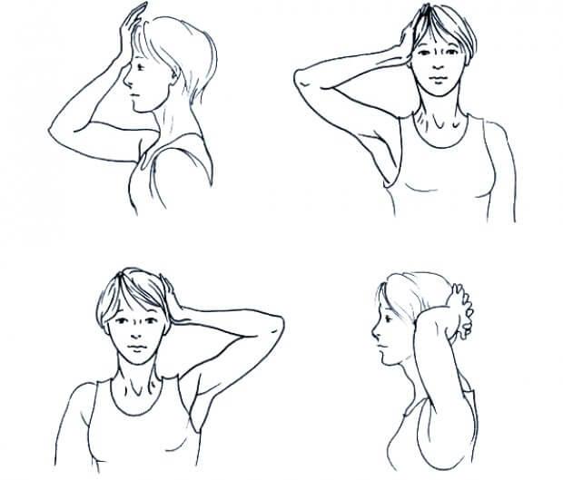 упражнения для расслабления мышц спины и шеи