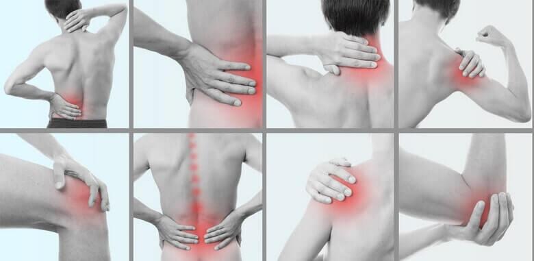 Места появления суставных болей