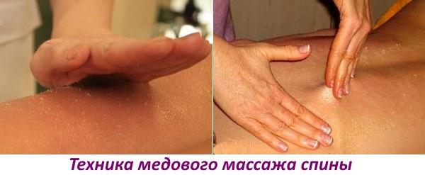 Выполнение медового массажа