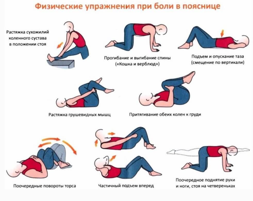 народные средства от боли в пояснице в домашних условиях упражнения