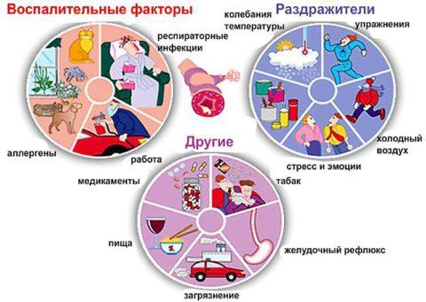 В первую очередь нужно определить причину и/или провоцирующие факторы заболевания (на фото)